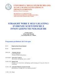 straight wire e self ligating - Collegio dei Docenti di Odontoiatria