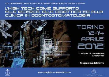 Torino - Collegio dei Docenti di Odontoiatria
