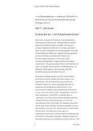 Reif für die Inseln – Fachhandel berät mit ... - ID Deutschland