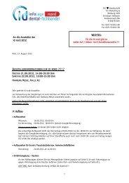 An die Aussteller der id nord 2012 FREITAG 21.09.2012, 14:00-19 ...