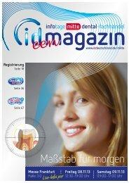 Maßstab für morgen - ID Deutschland - infotage dental-fachhandel