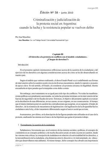 El derecho a la protesta en conflicto con el modelo «ciudadano».