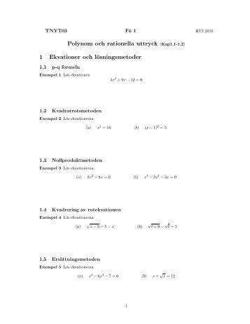 Föreläsning 1