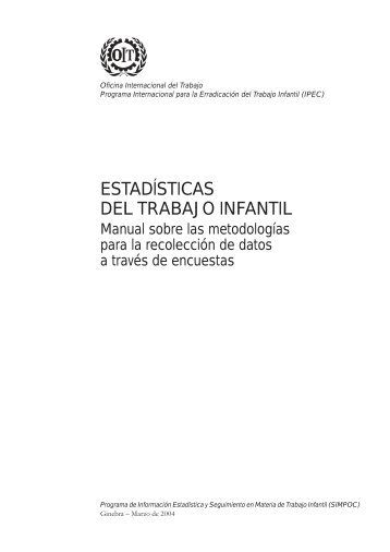 Manual sobre las metodologías para la recolección de datos a