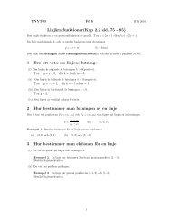 Föreläsning 6