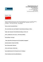 Dossier China - Die Universität