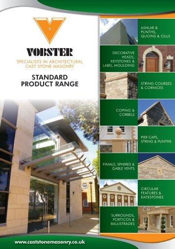 STANDARD PRODUCT RANGE - Vobster Cast Stone