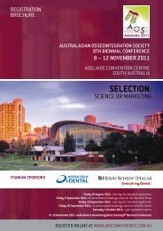 SELECTION: - AOS Conference