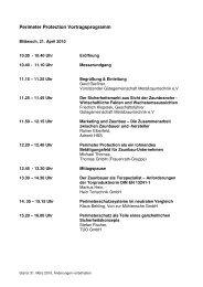 Perimeter Protection Vortragsprogramm - H & K Messe
