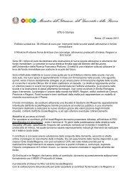 Comunicato Stampa Miur del 27/03/13 - Info-Scuole