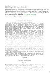 Disposizioni urgenti per la cessazione dello stato di ... - Info-Scuole