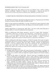Determina Reg. Lazio del 23/12/10 - Info-Scuole
