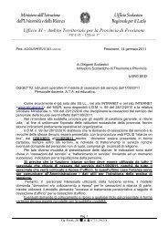 Circolare n. 361 del 14/01/11 - Info-Scuole