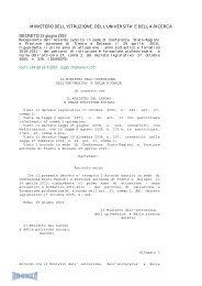 Decreto del 15/06/10 - Info-Scuole