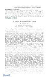 Decreto del 20/12/10 - Info-Scuole