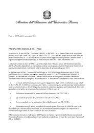 Nota n.10773 dell'11.11.2010. Programma annuale - Gilda Venezia