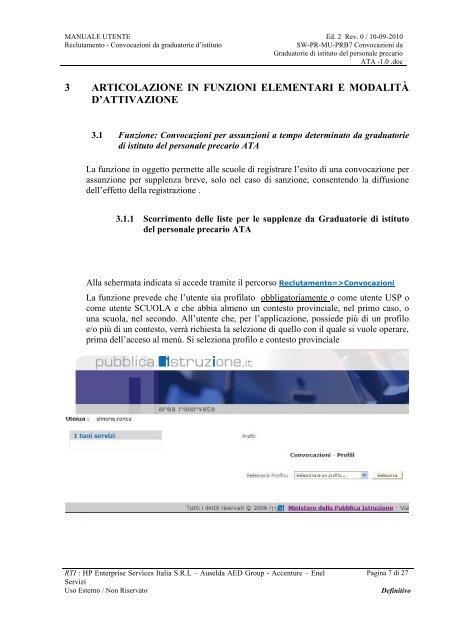 SIDI - Politiche di Reclutamento - Graduatorie ... - Info-Scuole