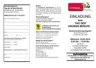Anmeldung zum Tag der Grünen Berufe - Landwirtschaftliches ...