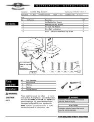 Contents Important Tools Required - National Cycle, Inc.