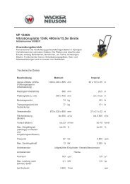 VP 1340A Vibrationsplatte 13kN, 400mm/15,5in Breite