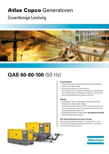 QAS 60-80-100 (50 Hz) Atlas Copco Generatoren