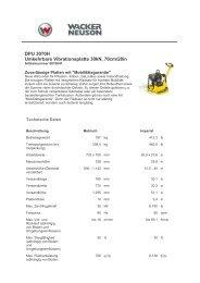 DPU 3070H Umkehrbare Vibrationsplatte 30kN, 70cm/28in