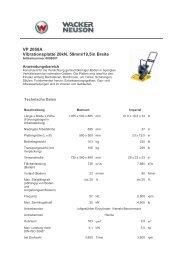 VP 2050A Vibrationsplatte 20kN, 50mm/19,5in Breite