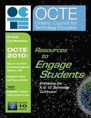 2010OCTE_Conf-ElemWorkshopsP.. - Ontario Association of Junior ...