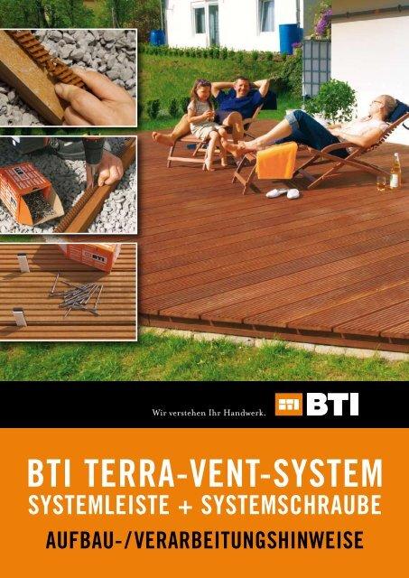 BTI TERRA-VENT-SYSTEM - BTI Befestigungstechnik GmbH & Co. KG