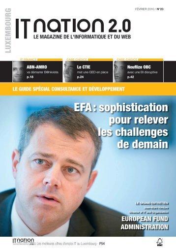 EFA : sophistication pour relever les challenges de demain - ITnation
