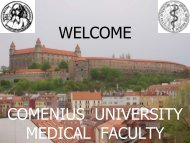 14.09.2007 Information about Comenius University Medical faculty ...