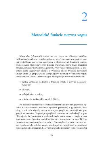 Motorické funkcie nervus vagus