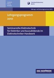 Lehrgangsprogramm 2010 - Elektro-Innung Berlin