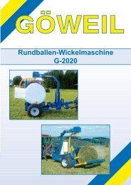 Rundballen-Wickelmaschine G-2020 - EZ AGRAR
