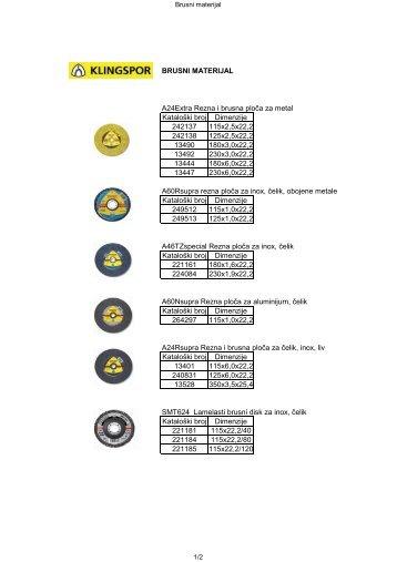 KLINGSPOR - Brusni materijal - Gama - profesionalni alati