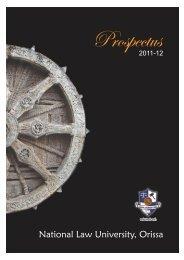 NLUO Prospectus 2011-12