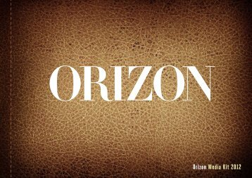 Orizon Media Kit 2012 - Spainmedia Magazines
