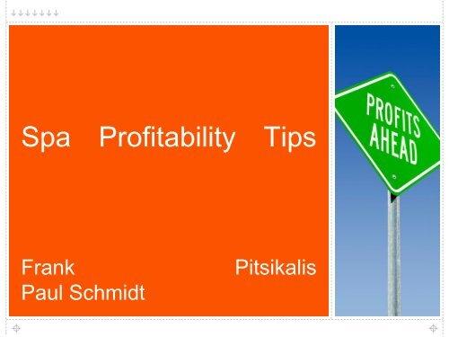 Spa Profitability Tips