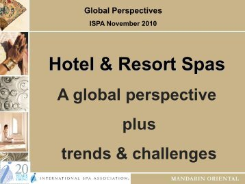 Global Perspectives ISPA November 2010