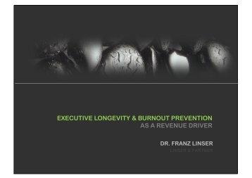 executive longevity & burnout prevention as a revenue driver