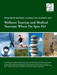 Wellness Tourism and Medical Tourism - spa