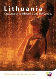 Catalogue of health resorts and SPA Centres