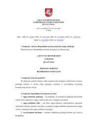 Lietuvos Respublikos turizmo įstatymas - spa