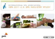 ISPA 2011 U.S. SPA INDUSTRY STUDY