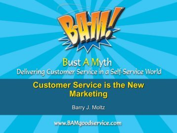 Customer Service is the New Marketing - spa