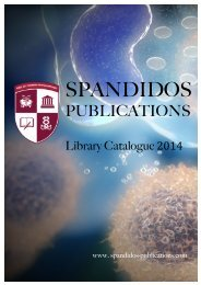 2014 Library Catalogue - Spandidos Publications