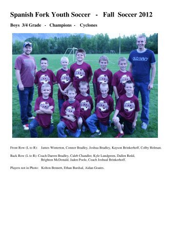 2013 Youth Soccer - Boy's Leagues Champions - Spanish Fork
