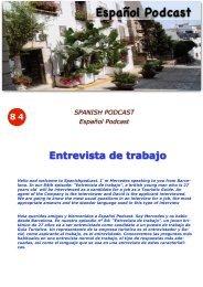 84 Entrevista de trabajo - Español Podcast / Spanishpodcast