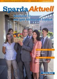 Ausgabe September 2013 - Sparda-Bank Augsburg eG