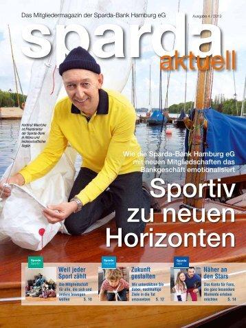 Ausgabe 4 / 2013 - Sparda-Bank Hamburg eG